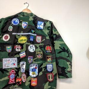 Incredible Vintage Camouflage Patch Jacket